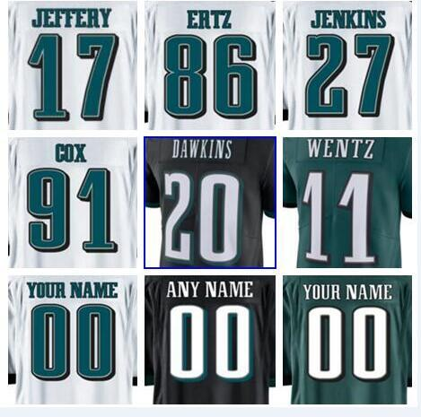 quality design 24ae5 b1c17 2019 Hot Sale 2018 Philadelphia Carson Wentz Eagles Jersey Custom Alshon  Jeffery Fletcher Cox Authentic Sports Youth Kids American Football Jerse  From ...