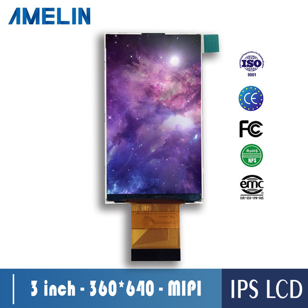small size 3 inch 360x640 tft lcd module display screen with IPS viewing angle and RGB/MIPI interface