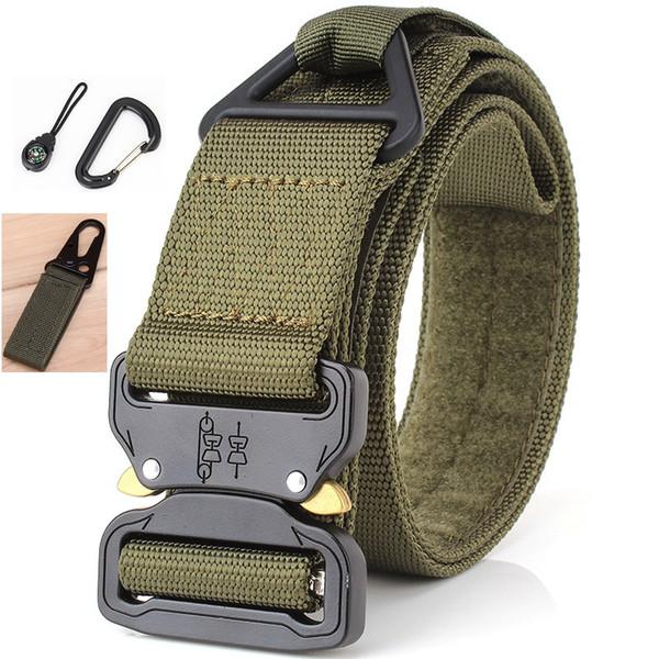 2018 cinturón táctico Hot Mens Tactical Belt Nylon Belt Al aire libre multifuncional Trainin alta calidad Ceintures de la correa