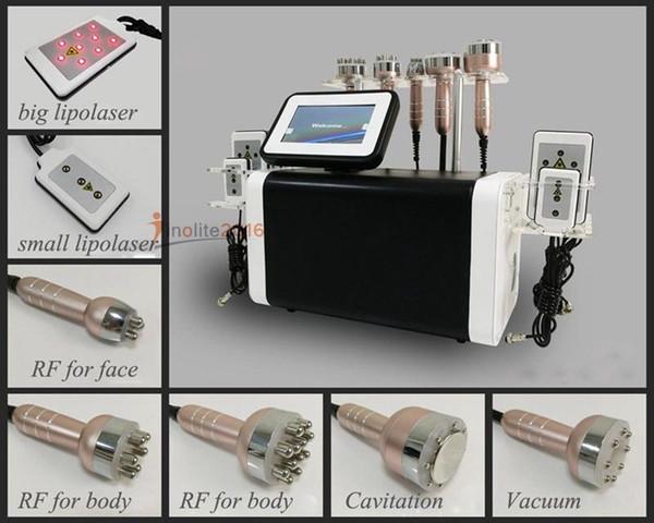 2018 neuankömmling 6in1 lipolyse kavitation und lipolaser hochfrequenz rf vakuum abnehmen cellulite ultraschall maschine