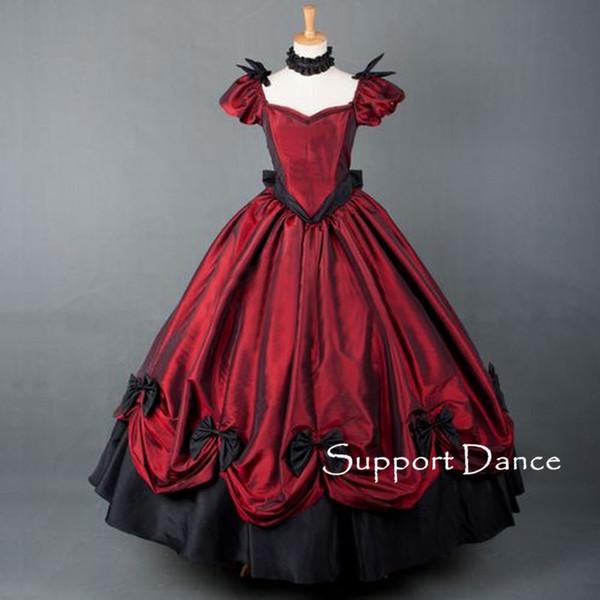 Victorians Vintage Long Gothic Lolita Dress Custom Made Plus Size L45