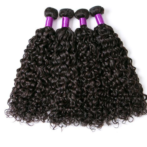 Malaysia Water Wave 4 Bundles Remy Hair Weave Bundles Natural Color Jet Black 100% Human Hair Bundles 8-28 Inch Extension