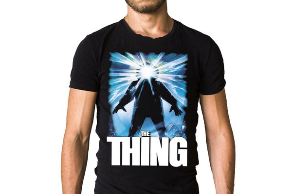 The Thing 1982 Film Poster T-Shirt High Quality Custom Printed Tops Hipster Tees T-Shirt