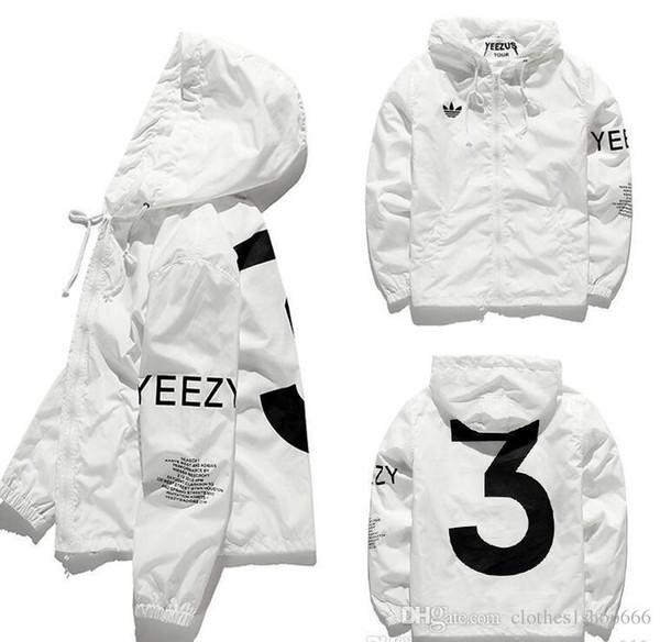 KANYE Jacket Men KANYE Hip Hop Giacca a vento TOUR 3 Giacche Uomo Donna Streetwear Moda Capispalla cappotto uniforme nero Bianco YEEZUS Y3 Giacca