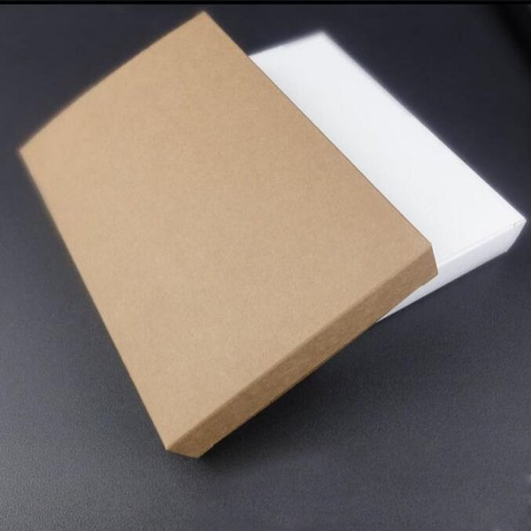 Beyaz Kraft Kağıt Zarf Kartpostallar Tebrik Kartı Kapak Fotoğraf Maske Hediye Paketleme Kutuları 19 * 13 * 5.5 cm / 19 * 13 * 3 cm QW8800