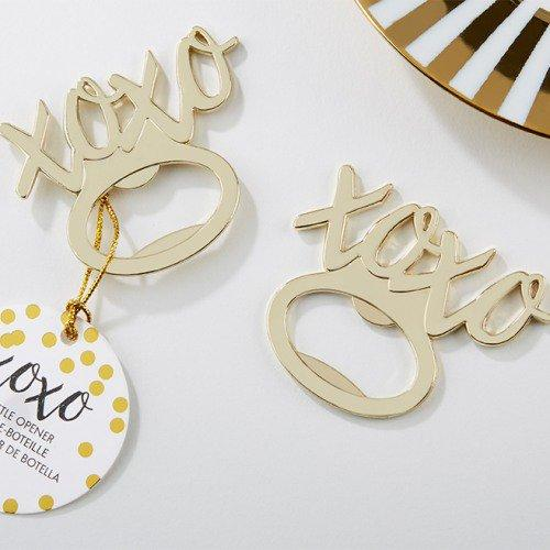 (25 Pieces/lot) Gold wedding decoration favors of XOXO Gold Bottle Opener Bridal shower favors for Wedding gift favors