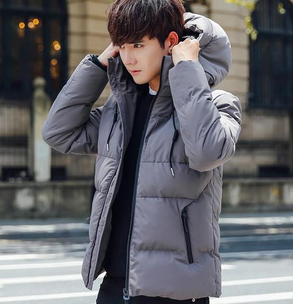 Winter Down Parkas Cool Hoodies Short Zippers Fashion Designer Jacket Men Fashion Design Warm Coat 2 Outdoor Coats Cheap