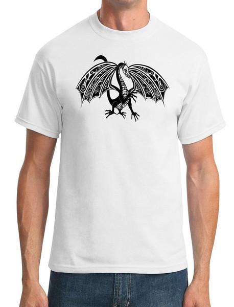 Dragon Tribal Tattoo - Mens T-shirt Fashion Classic Loose High Quality Personality Breathable Summer Print O - Neck T Shirt