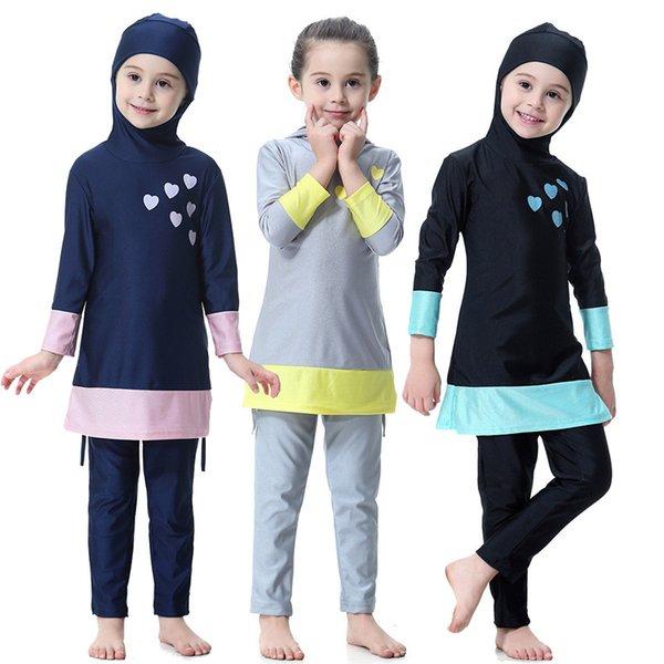 Muslim Swimwear Islamic Baby Kids Swimsuit Children Beach Wear Conservative Full Cover Modest Bathing Suit Swim Surf Wear