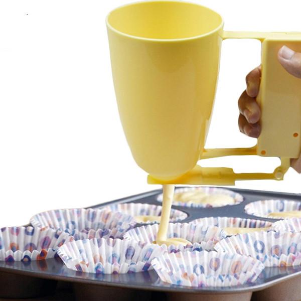 Griff Kuchen machen Helfer Cup Teig Batter Dispenser Ball Mould Maker Loqumat Al Kadey Gerät Küche