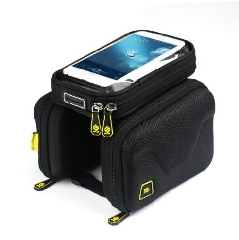 Bike Bag 6.2 Inch Touch Screen Bicycle Bag Front Frame Top Cell Phone TPU Cycling Bag Double Pouch MTB Accessory