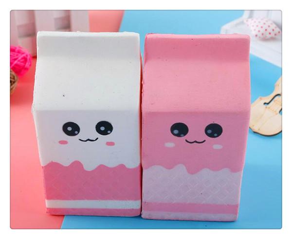 Squishy de boîte de lait cadeau créatif pour enfants de jouets et de jouets Slow Rebound