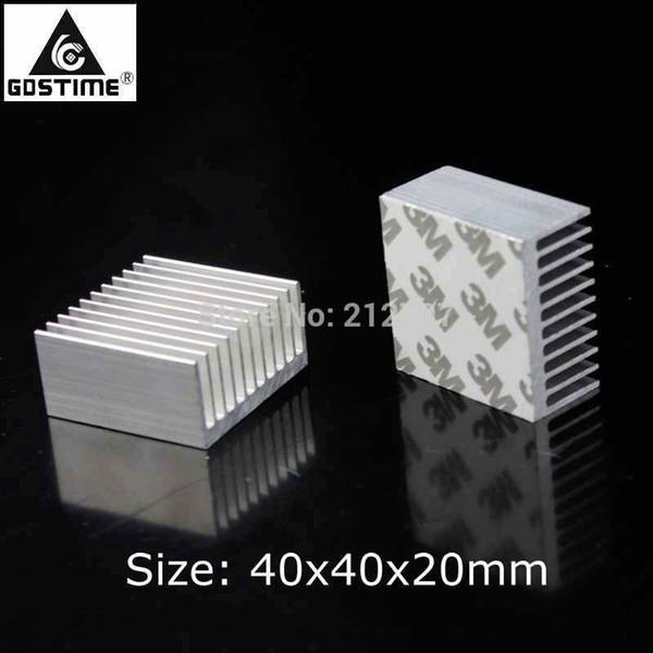 2PCS Gdstime Cooler Accessories 40mm Heatsink 40x40x20mm IC Heat Sink Aluminum Cooling Fin Fan