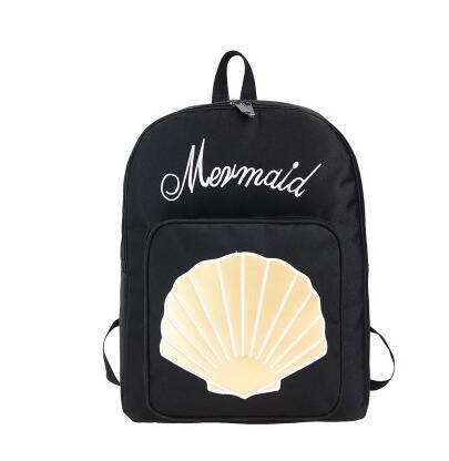 Hot-selling 2018 new Harajuku ulzzang fresh cute embroidery shells backpack women preppy style schoolbag men travel shoulder bag
