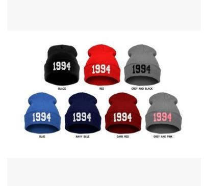 Wholesale-1pc Retail Cheap 1994 Justin Bieber Beanie Sale Winter Knitted Hat For Men Women Caps Casual Skullies Hip-hop Many Colors