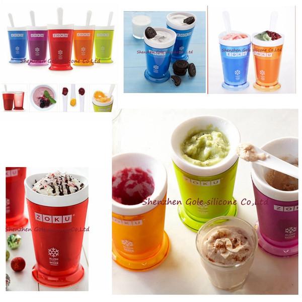 hot 5 Colors Creative New Fruits Juice Cup Fruits Sand Ice Cream ZOKU Slush Shake Maker Slushy Milkshake Smoothie Cup