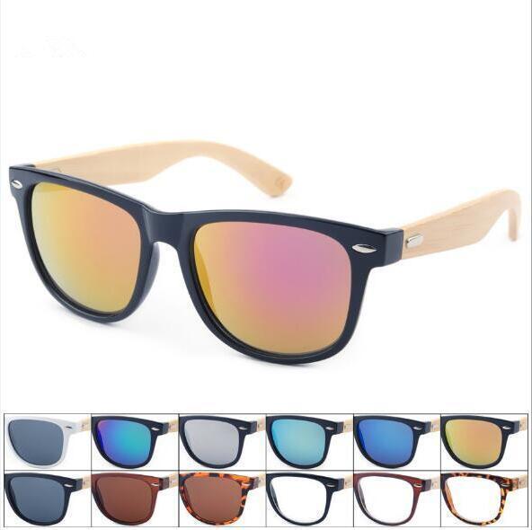 Retro Ahşap Güneş Gözlüğü Erkekler Bambu Sunglass Unisex Spor Gözlük Ayna Güneş Gözlükleri Shades Ahşap Seyahat Gözlük CCA9118 50 adet