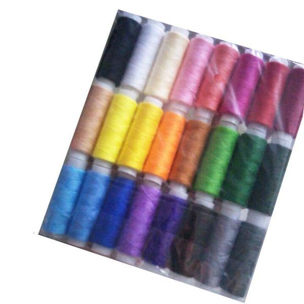 24 Colores Hilos de Coser Set 200 Yardas para DIY Ropa de Coser Accesorios de Ropa Patchwor Hilos de Bordar 24 Unids