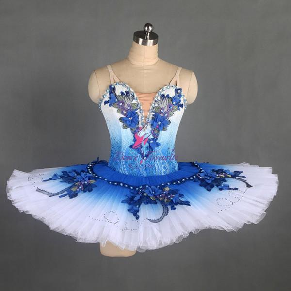Mezun Renk Klasik Bale Dans Tutu Sahne Gösterisi Balerin Dans Kostüm Kızlar için Rekabet Tutuş Özel Tutu B17044