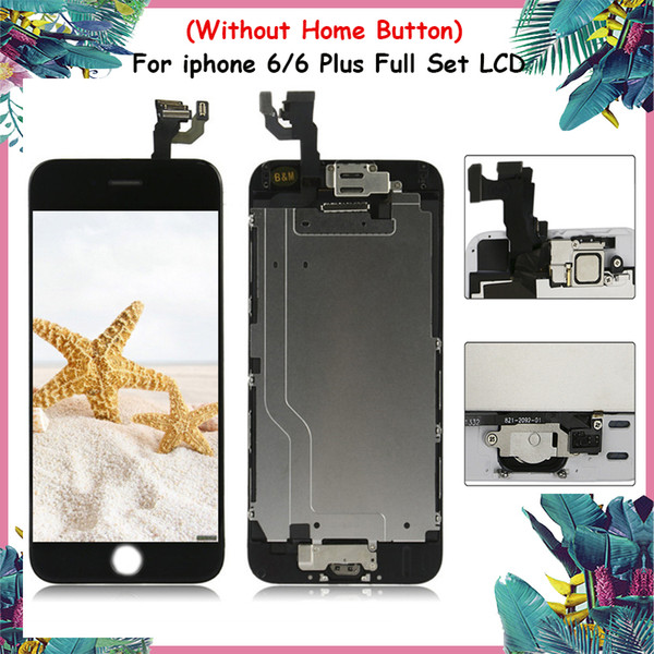 Display for iphone LCD Screen Touch Assembly For iPhone 6 & 6 Plus LCD+Front Camera Good Quality 100% Tested (Without Home Button)