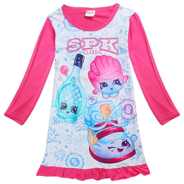 cute little girl dress cartoon anime pattern cotton dresses for 4-10years girls kids children summer outerwear clothes