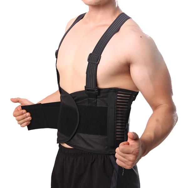 Male Pain Belt Back Corset for Men Heavy Lift Work Back Support Brace Shoulder Straps Lumbar Support Belt Posture Corrector Y001