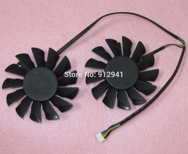 PLD08010S12HH 75mm Video Card Dual Fan Replacement 52mm 0.35A 4Wire 4Pin for MSI Radeon R7850 R7870 R7950 Twin Frozr III