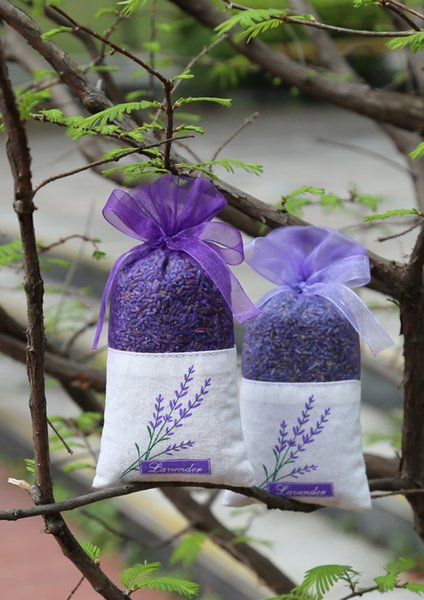 50pcs Graceful Lace Lavender Sachet Bags Candy Bag for Wedding Wardrobe Sachet Mesh Pouch Purple Cotton Bag With Ribbon For shower bag