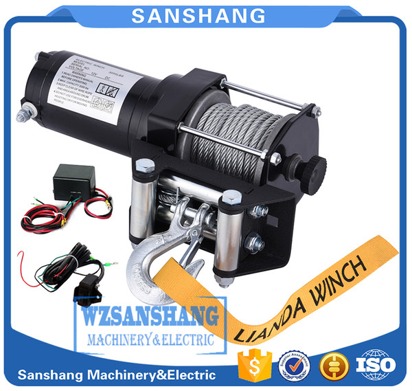 remote control , dynamic braking action 3000LB electric winch kits for ATV UTV off-road vehicle DC12V,Differential Planetary