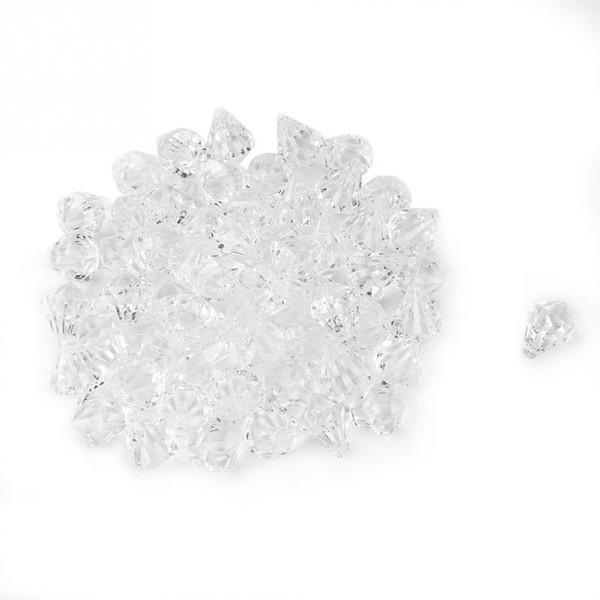 120PCS Acrylic Clear Crystal Diamond Table Confetti Wedding Bridal Party Decoration Vase Filler for themed birthday Christmas