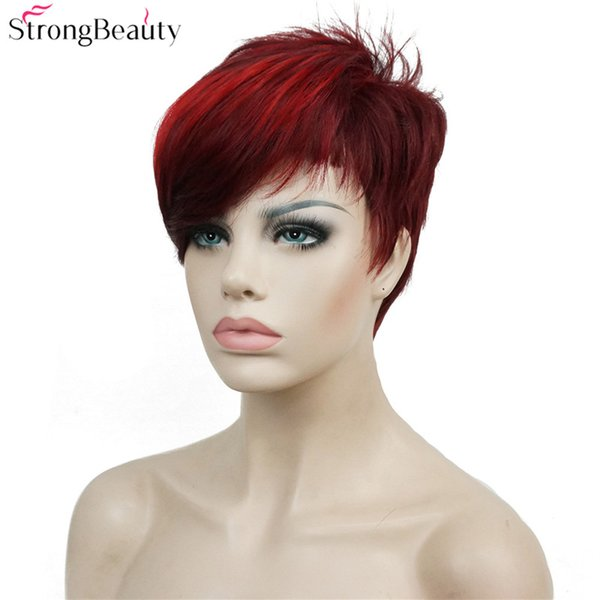 Strong Beauty Short Synthetic Wigs Women or Men Hair Heat Resistant Full Wig