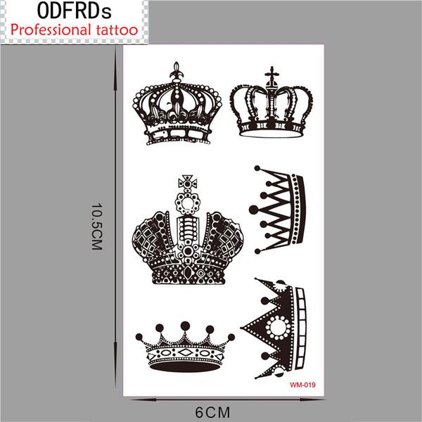 (Min encomendar us $ 0.5) Tatuagem Temporária Para O Homem Mulher Adesivos À Prova D 'Água maquiagem maquiagem maquiagem coroa WM019