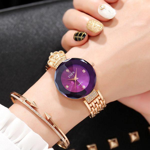 zivok Brand Luxury Women Bracelet Watches Rose Gold Fashion Quartz Wrist Watch Clock Women Relogio Feminino Girls Lovers Watch Y18102310