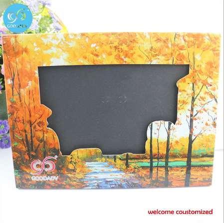 2 stil manzara serisi renk baskılı el işi stand kağıt fotoğraf çerçevesi için ücretsiz kargo fotoğraf çerçevesi promosyon