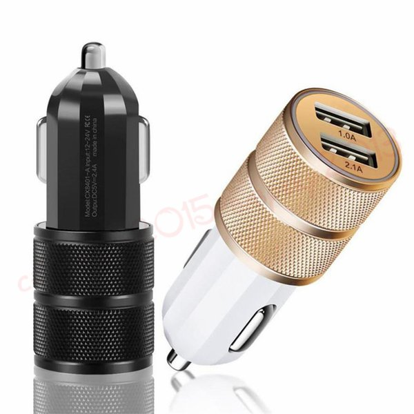 Universal 2.1A Dual usb ports car charger adapter for samsung iphone 7 8 x smart phone pc gps