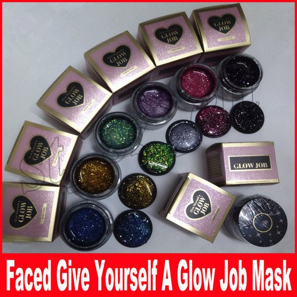 Faced Makeup Give Yourself A Glow Job Boosting Glitter Mask Infused 50ml Facial Mask 6 COLORS