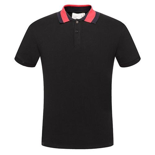 19ss mais novo G Moda casual dos homens Da Marca Tshirt Masculino Camiseta de Manga Curta O Pescoço homens medusa serpente Carta polo Tee Tops Camisa 315