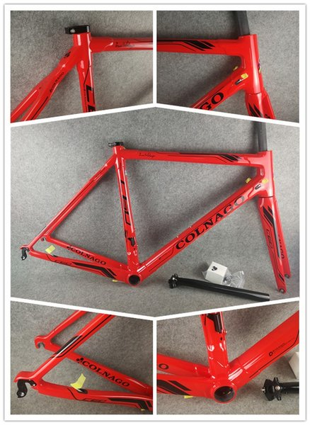 Colnago C60 T1000 Full carbon fiber Red road bike frameset carbon bike frame BB386 size finish glossy/matte