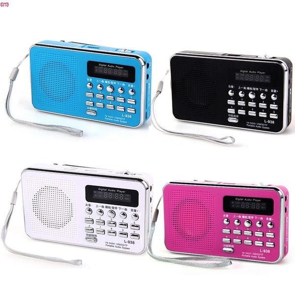 HL Hot New Mini Digital Portable Music MP3 Player Micro SD/TF Card Speaker FM Radio With LED digital display Dropshipp Nov.4