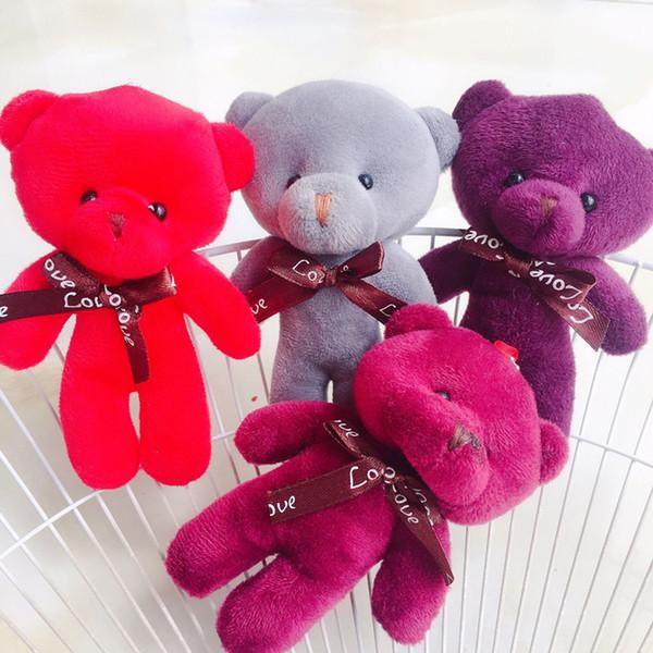 Kawaii Urso de Pelúcia Boneca De Pelúcia Recheado Chaveiro Saco de Brinquedo Pingente Bonito Mini Boneca 13 CM Halloween Brinquedos Para As Crianças Presente de Natal Cor Aleatória