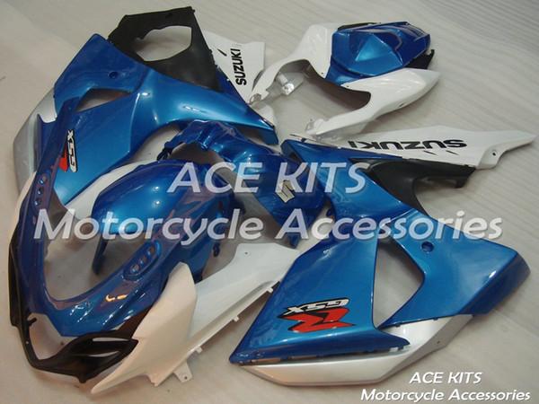 Carénages de moto ACE pour SUZUKI GSX-R1000 K9 2009 2010 2011 2011 2012 2013 2014 2015 2015 Carrosserie en compression ou en injection Bleu Blanc No.431