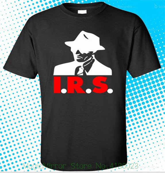 New I.r.s. Record International Record Syndicate Inc Black T-shirt Size S - 3xl Round Neck Teenage Pop Top Tee