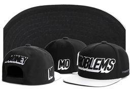 black white snapback baseball cap football caps basketball hat men hip top street hats MONEY PROBLEMS MO Cayler sons snapback 241