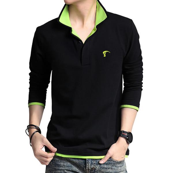 2016 POLO Mens Golf Vestuário Camisa de Manga Longa Uniformes Esportivos Primavera e No Outono de Manga Longa T-shirt Respirável Plus Size
