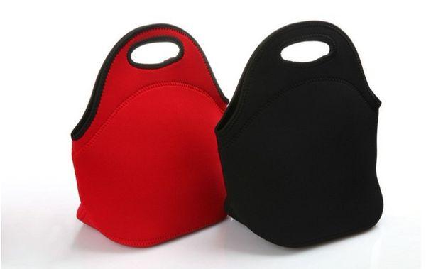 Children Student Neoprene Lunch Bag Waterproof Picnic Tote Bento Box Insulated Cooler Zipper Lunch Box Food Bag Handbag Gift for Friends