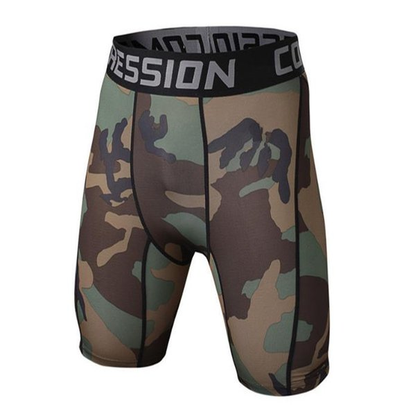 New Mens Tight Elastic Compression Shorts Fitness Brand Clothing Wicking Short Pants Homme Men Bodybuilding Shorts
