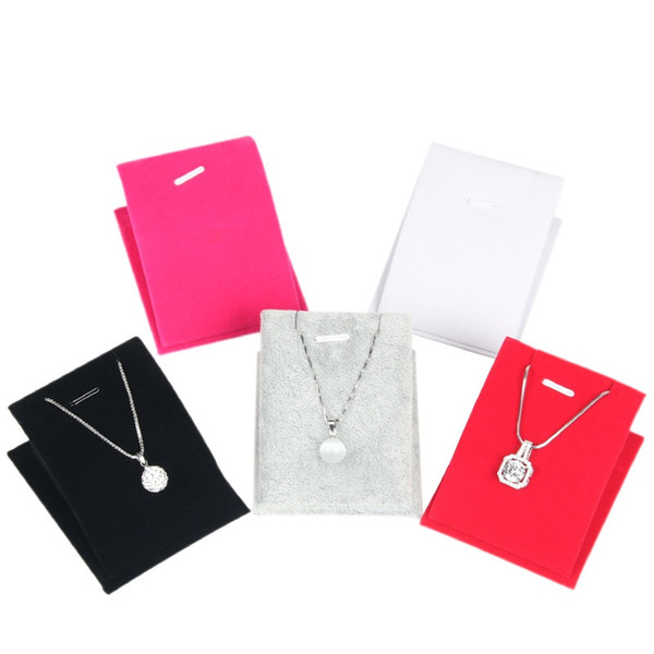 5 Colors necklace stand holder Mannequin Shelves Necklace Jewelry Pendant Display Velvet Stand Holder Show Decorate