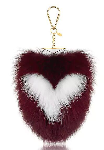 FUZZY V BAG CHARM KEY HOLDERS BAG CHARMS MORE Belts Jewelry fashion Accessories