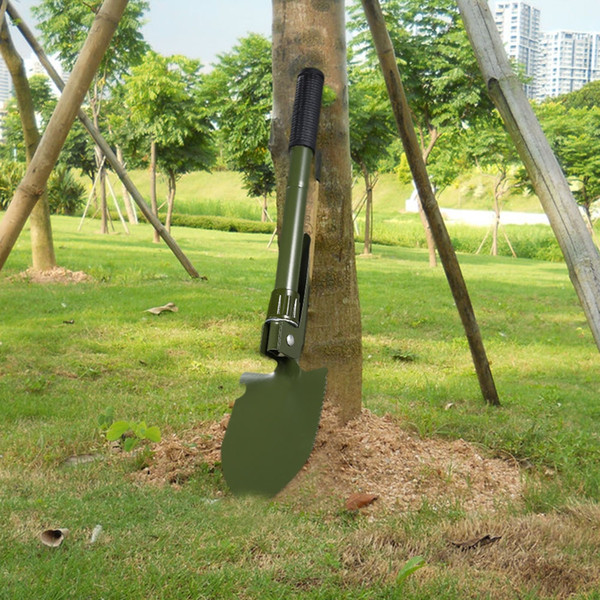 Outlife Multifunctional Military Folding Sappers Shovel Survival Spade Emergency Garden Camping Outdoor Tool Come with a compass
