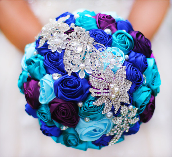 Bouquet De Mariée Mariage Broche DIY Perle Fil Rose Bouquet De Mariée